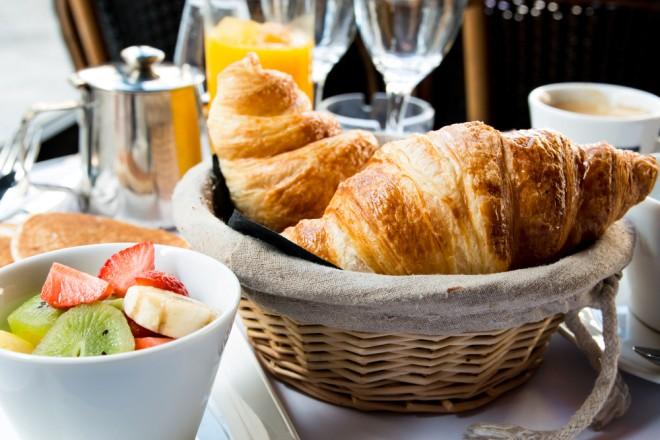frukost i Frankrike