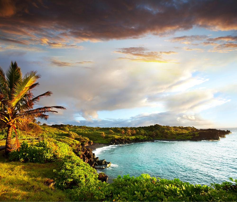 Häftiga Oahu island på Hawaii.