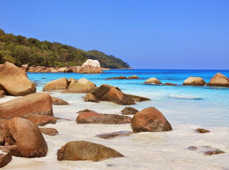 Drömstrand på Seychellerna