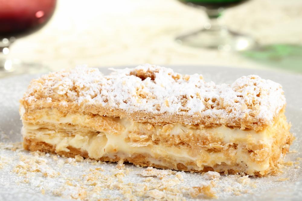 Millefoglie, italiensk dessert.