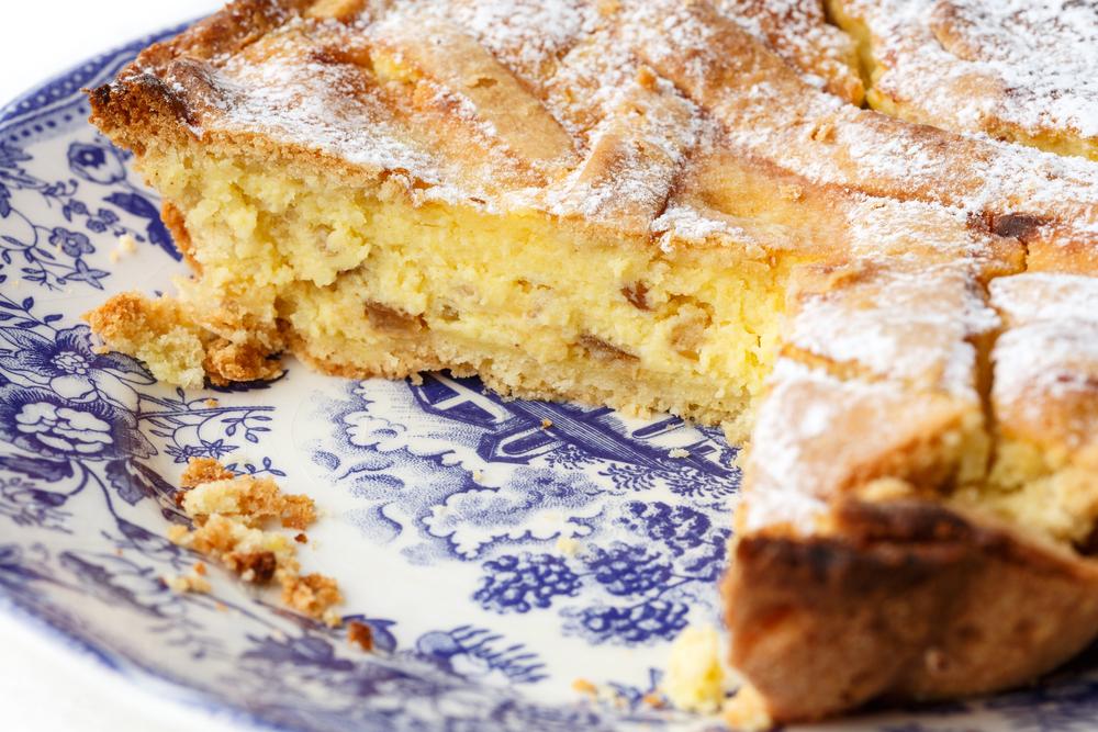 Pastiera Napoletana, italiensk dessert.