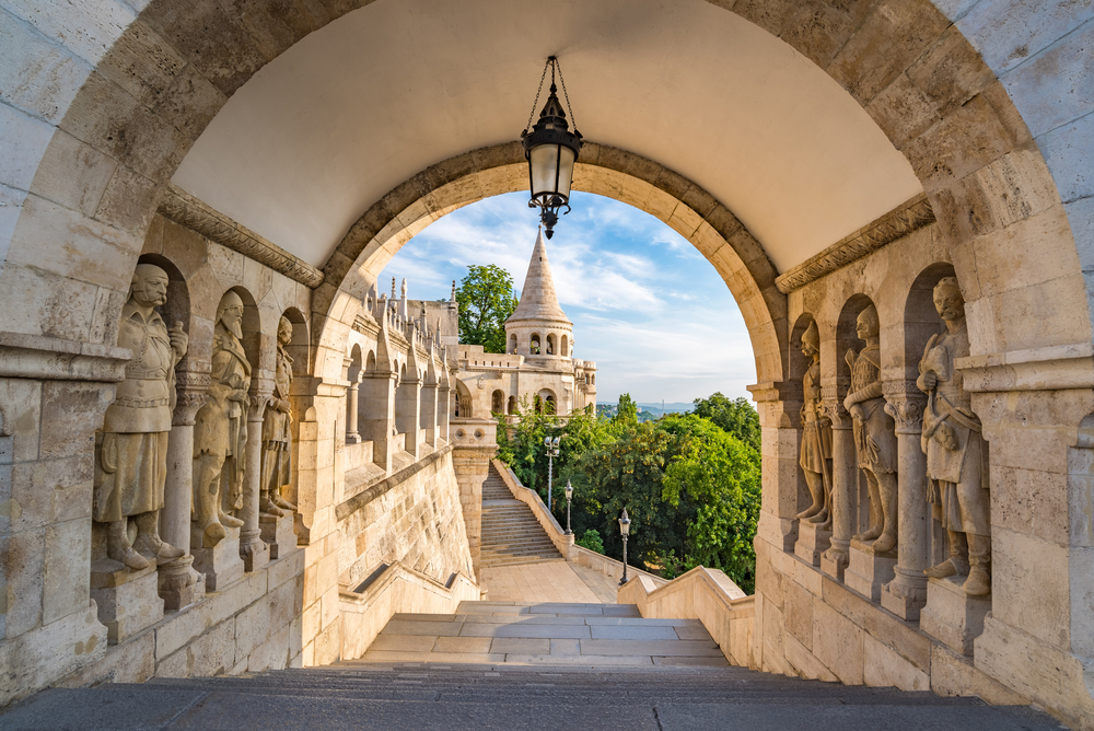 Vackra fischerman´s bastion i Budapest.