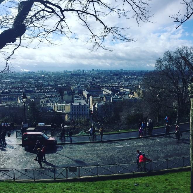utsikt över Paris från Sacre Coeur