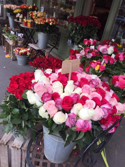 blommor i Paris
