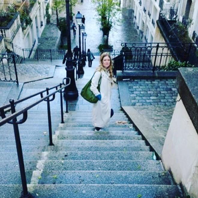 Trappor på baksidan av Montmartre