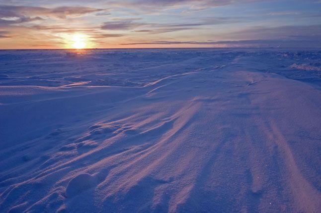 svalbard solnedgång norge